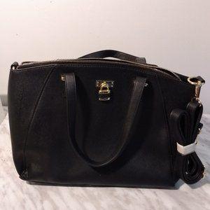 Ardene black faux leather bag 11/15in